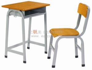 Fixed School Student Single Desk and Chair for Primary School pictures & photos