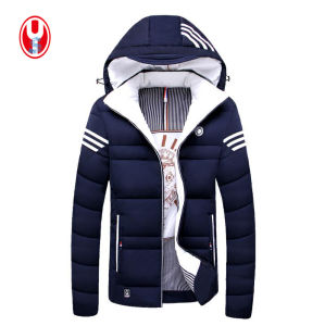 Man′s 3 Colors Leisure Midweight Winter Coat with Hoody Jackets pictures & photos