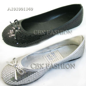 Fashion Sparkling Sequins Flat Heel Women Shoes (A101001140)