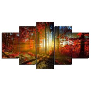 HD Printed Forest Printed Painting on Canvas Decoration Print Poster Picture Canvas Framed Ym-010 pictures & photos