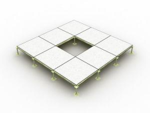 Safefloor-3: All Steel Panel Raised Floor with PVC Tile
