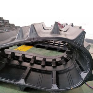 Harvester Rubber Track (500*90aw*54) with Cross Stripes Pattern pictures & photos