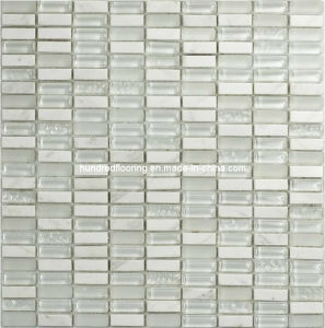 White Stone Mix Crystal Glass Mosaic Tile (HGM251) pictures & photos