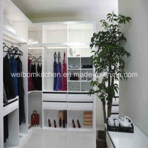2016 Modern Style Home Furniture Wooden White Walk in Closet pictures & photos