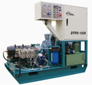 Water Jet Cutting System---Three Plunger Pump Uhp Waterjet Cleaning System 1 pictures & photos