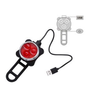 Bicycle Waterproof USB Rechargeable Back (Red) Lights&Head (White) Lamp Cycling Flashlight Lights Sets pictures & photos
