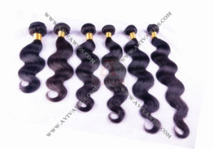 100% Virgin Human Hair Extension Peruvian Hair Weaving pictures & photos