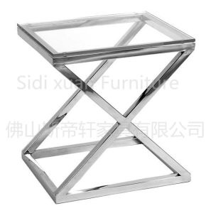 Modern Glass Coffee Table Stainless Steel Base Marvelous Stainless Steel End Side Table pictures & photos