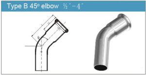 Type B 45 Degree Elbow