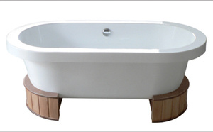 Acrylic Bathtubs With Wooden Bracket(MY-1646-1647-1648)