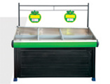 Stainless Steel Board Fruit Rack With Doors