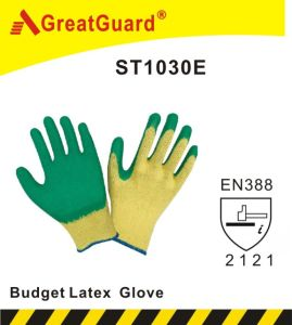 Budget Glass Gripper Latex Glove pictures & photos