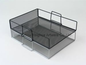 Mesh Front Load Letter Tray, Black