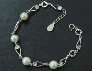 High Qualiuty Silver Plated Freshwater Pearl Bracelets Jewelry pictures & photos