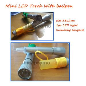 Mini Torch With LED Ballpen (LP6026)