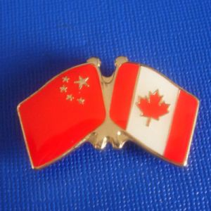 Enamel Flag Badge, Chainese and Canadian Flag (GZHY-LP-019) pictures & photos