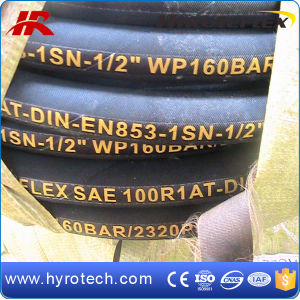 Pressure Hydraulic Rubber Hose 100 R1 at From Factory, SAE100 R1at pictures & photos