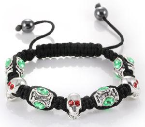 Halloween Silver Charm Bead Bracelet Ve77