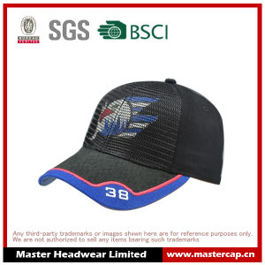 Bird Pattern Black Baseball Cap with Applique Embroidery pictures & photos