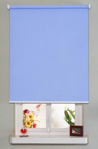 Polyester Fabric Electric Roller Blind Waterproof Inside / Outside (DC#1310) pictures & photos