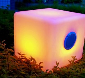 Bluetooth Speaker, LED Light, Portable, RGB, Cube Lamp with Remote Control pictures & photos