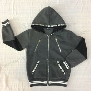 Boy Fleece Hoodies with Tape Printing in Hood Sq-6454 pictures & photos