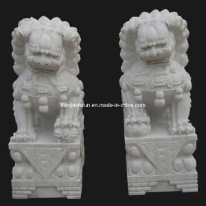 Stone Lion Carving Sculpture Traditional Lion (ANL004) pictures & photos