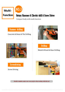 Portable Hardware Tool Rotary Hammer with 12 Battery pictures & photos