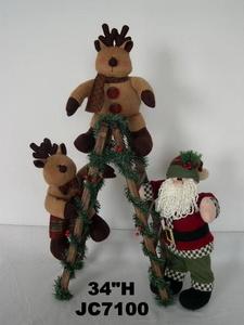 Christmas Ladder Climbing Santa/Reindeer