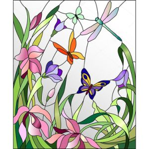 DIY Customized Pictures Abstact Stained Glass Mosaic Mural pictures & photos