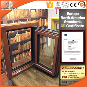 Aluminum Clad Oak Wood Casement Windows with Perfect Heat Insulation pictures & photos
