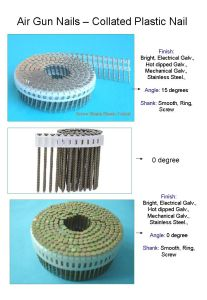 Plastic Sheet Coil Nail pictures & photos