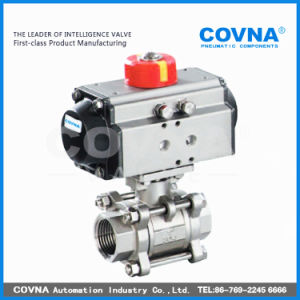 Stainless Steel Pneumatic Control Actuator Ball Valve for Water Treatment pictures & photos