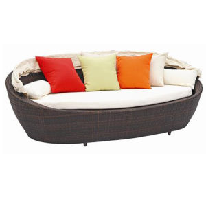 Rattan Daybed Modern Home Outdoor Furniture (SL-07011) pictures & photos