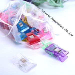 Multicolor 35mm Middle Size Plastic Craft Wonder Clips for Knitting