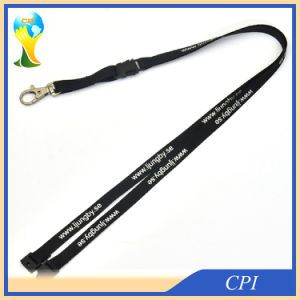 Promotion Cheap Thin Polyester Lanyard with Safety Breakaway pictures & photos
