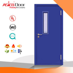 Metal Door Galvanized Steel Fire Proof Door with Exit Panic Push Bar pictures & photos