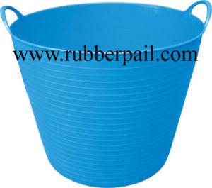 Garden Bucket, Plastic Bucket, Flexible Bucket. PE Pail (9002)