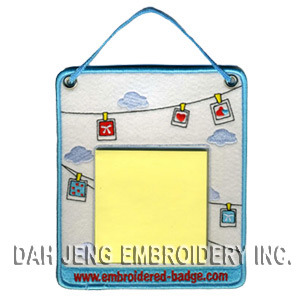Memo Pads with Decorative Embroidery pictures & photos