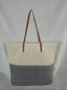Beach Bag, Made of Straw in Two-Color Combination pictures & photos