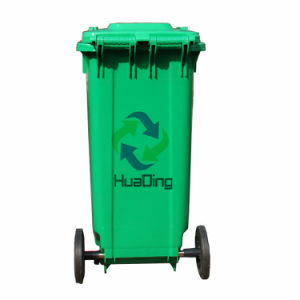 Plastic Garbage Trash Bin Rubber Wheel Trash Can for Outdoor pictures & photos