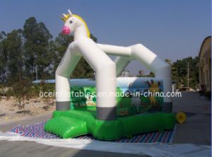 Hot Sale White Horse Inflatable Jumper