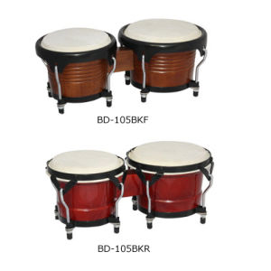 "6.5""-7.5"" Black Hoop Bongo Drum (BD-105BK) pictures & photos"