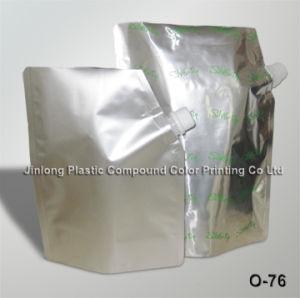Plain Foil Spout Packaging Pouch pictures & photos