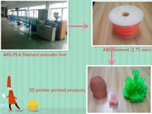 ABS/PLA 3D Printing Strip Extrusion Line of 1.75-3mm pictures & photos