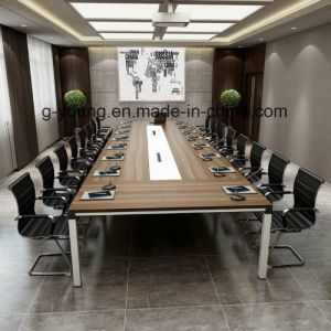 Modern Metal Frame Wood Table Meeting Desk