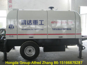 Hongda Good Quality Diesel Trailer Concrete Pump-60m3/H pictures & photos