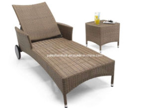 Wicker Garden Patio Outdoor Rattan Lounge (PAL-049)