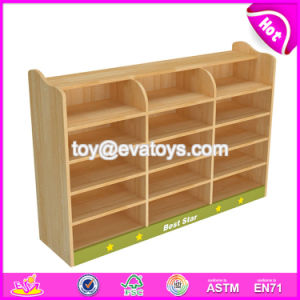 High Quality Kindergarten Wooden Storage Cabinets for Wholesale W08c229 pictures & photos