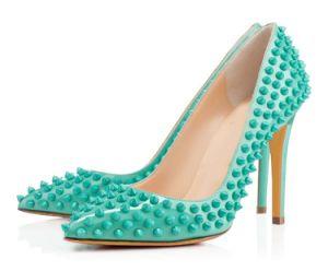 Leather Ladies High Heel Wedding Shoes